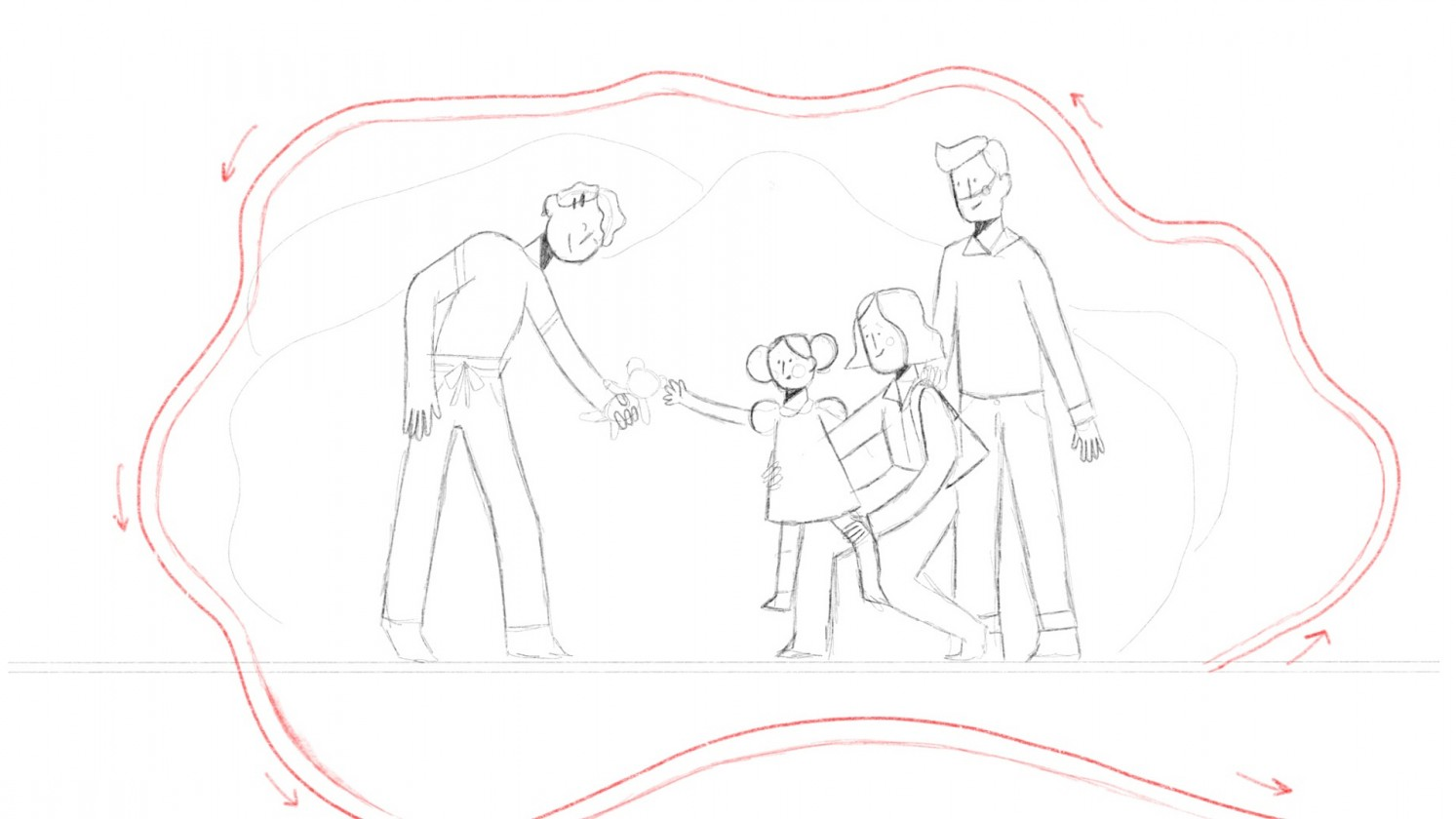 Illustration from Together Trust Storyboard of characters