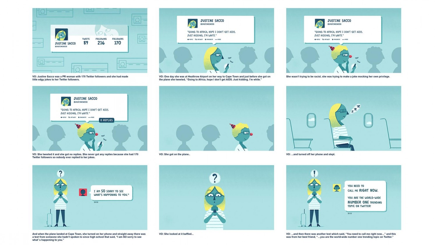 BBC Ideas animation storyboard