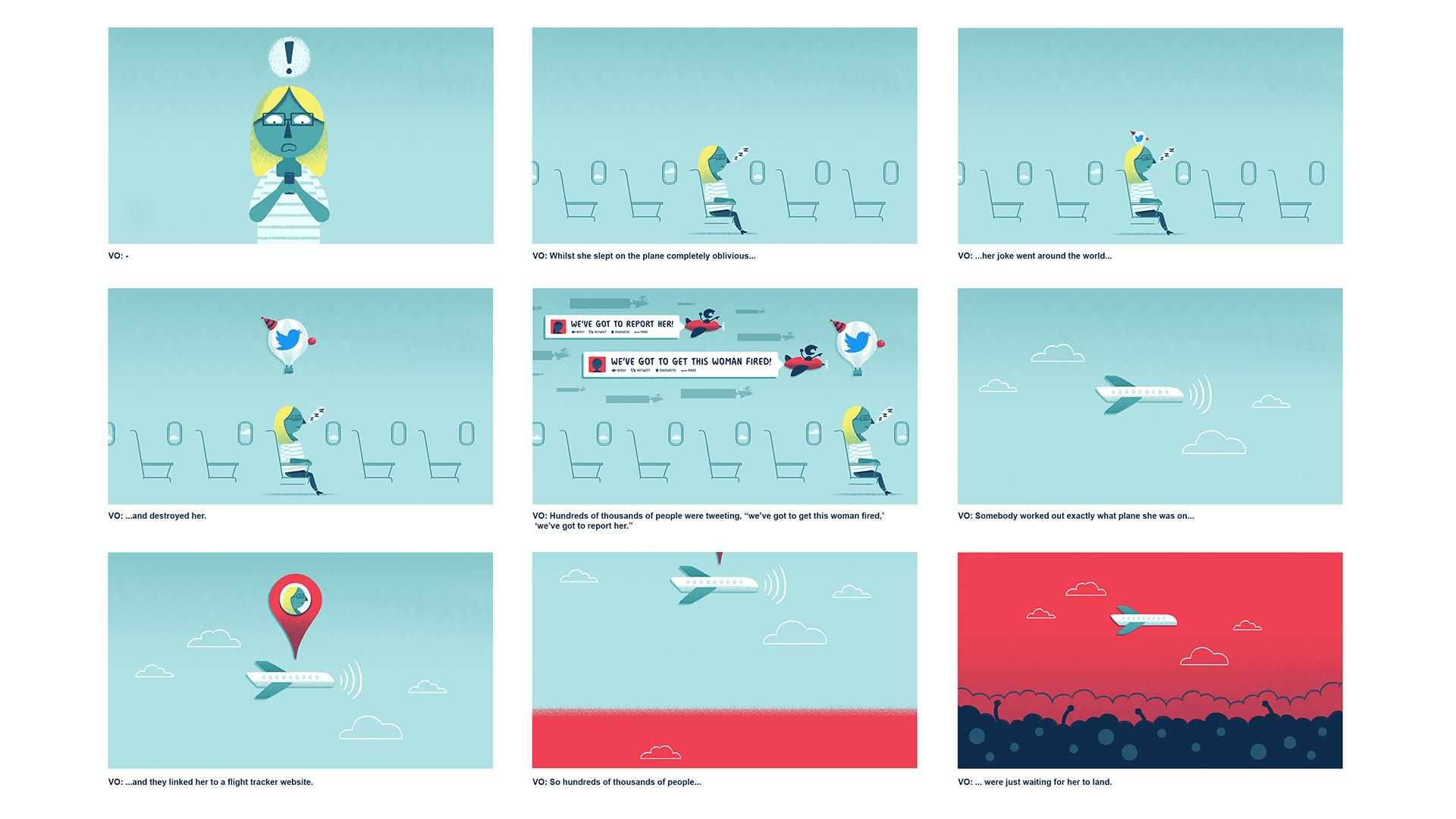 BBC Ideas storyboard for animation