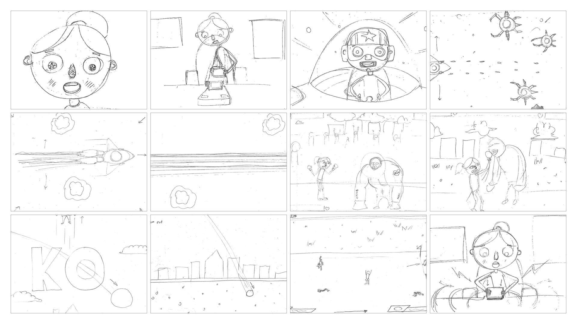 Big Chip Awards Storyboards for event animation