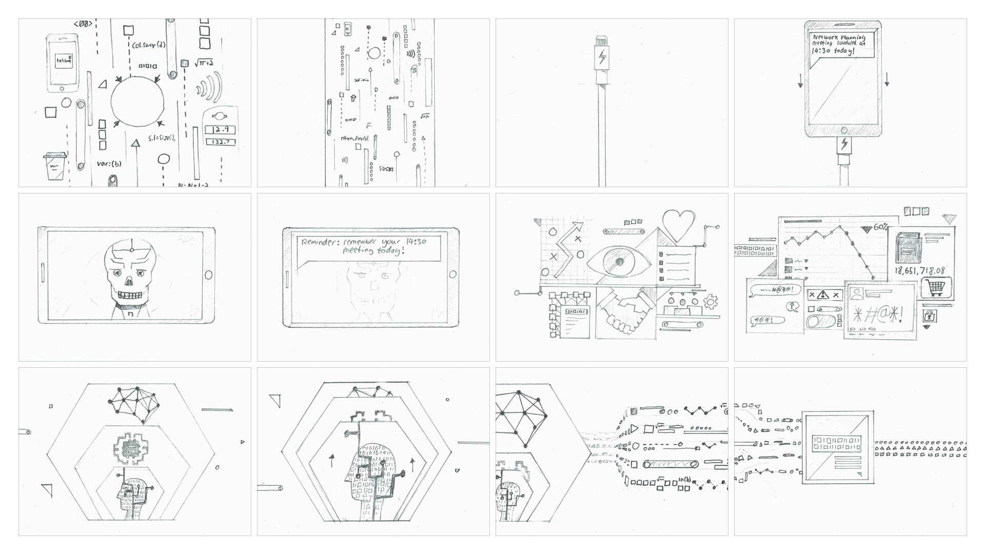 storyboard for tech company animation kalibrate