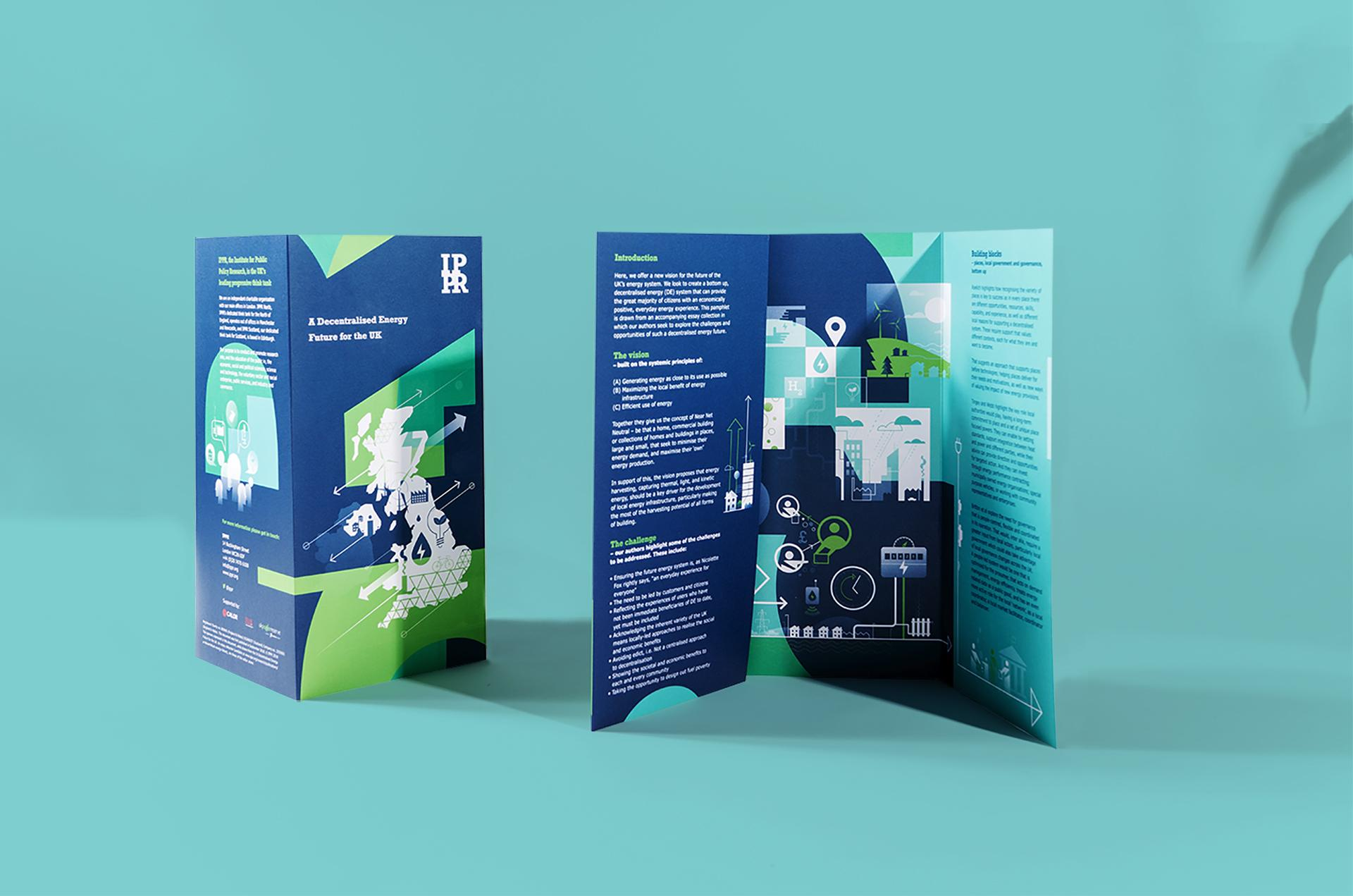 IPPR Brand Collateral Printed folding leaflet