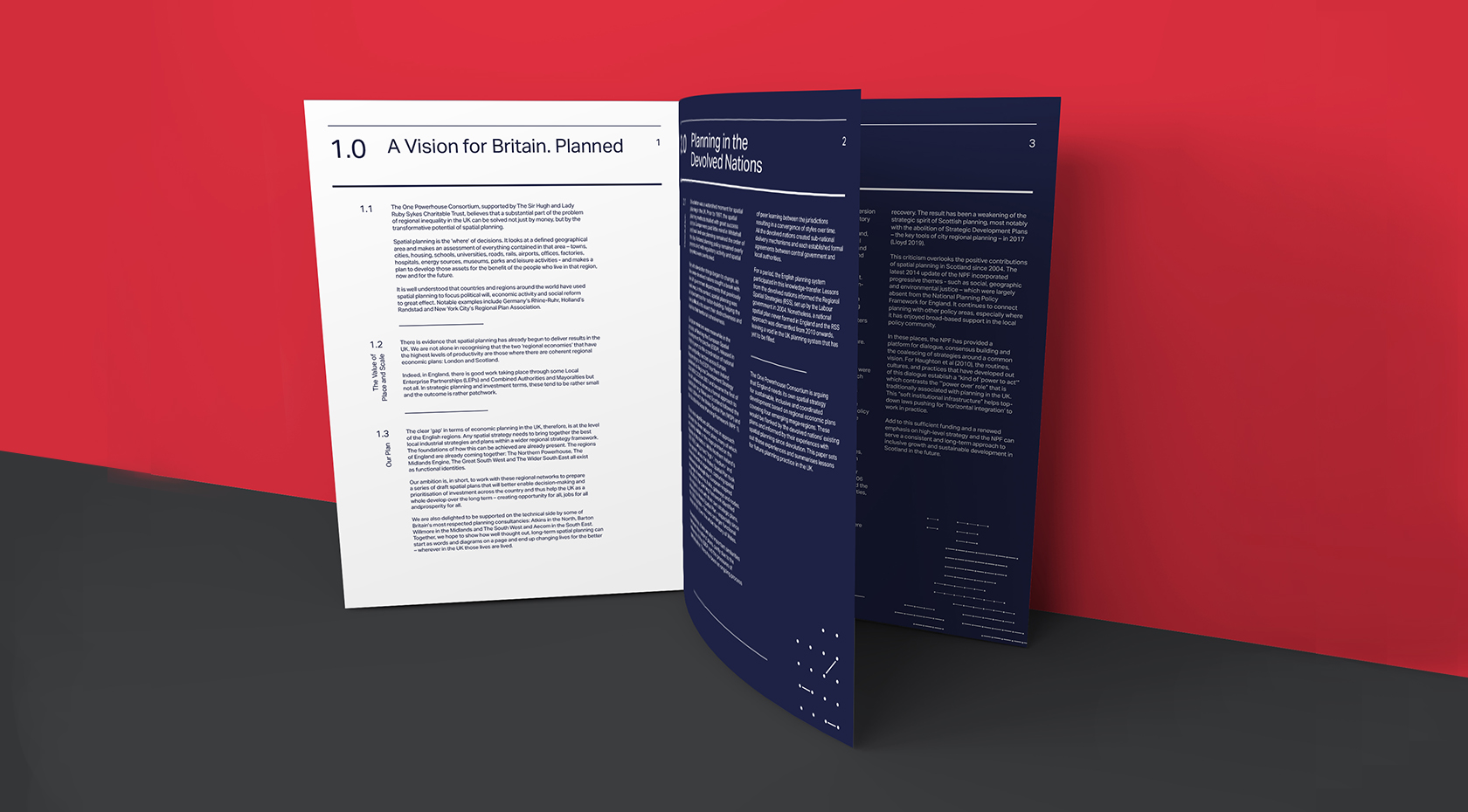 One Powerhouse branded printed booklet
