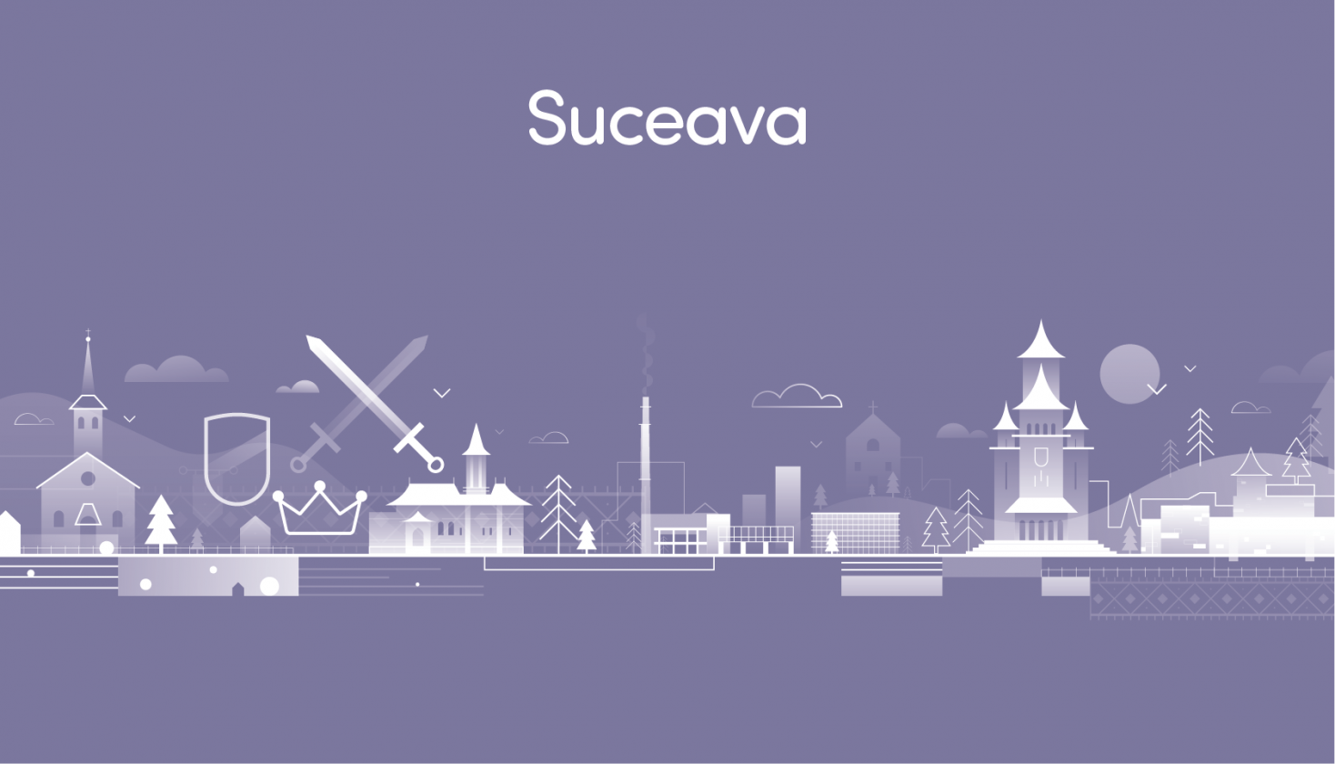 SmartImpact city illustration from animation and brand