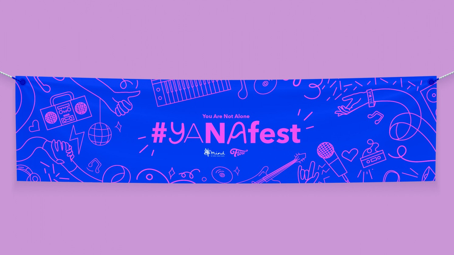 Yana illustrated and designed event banner