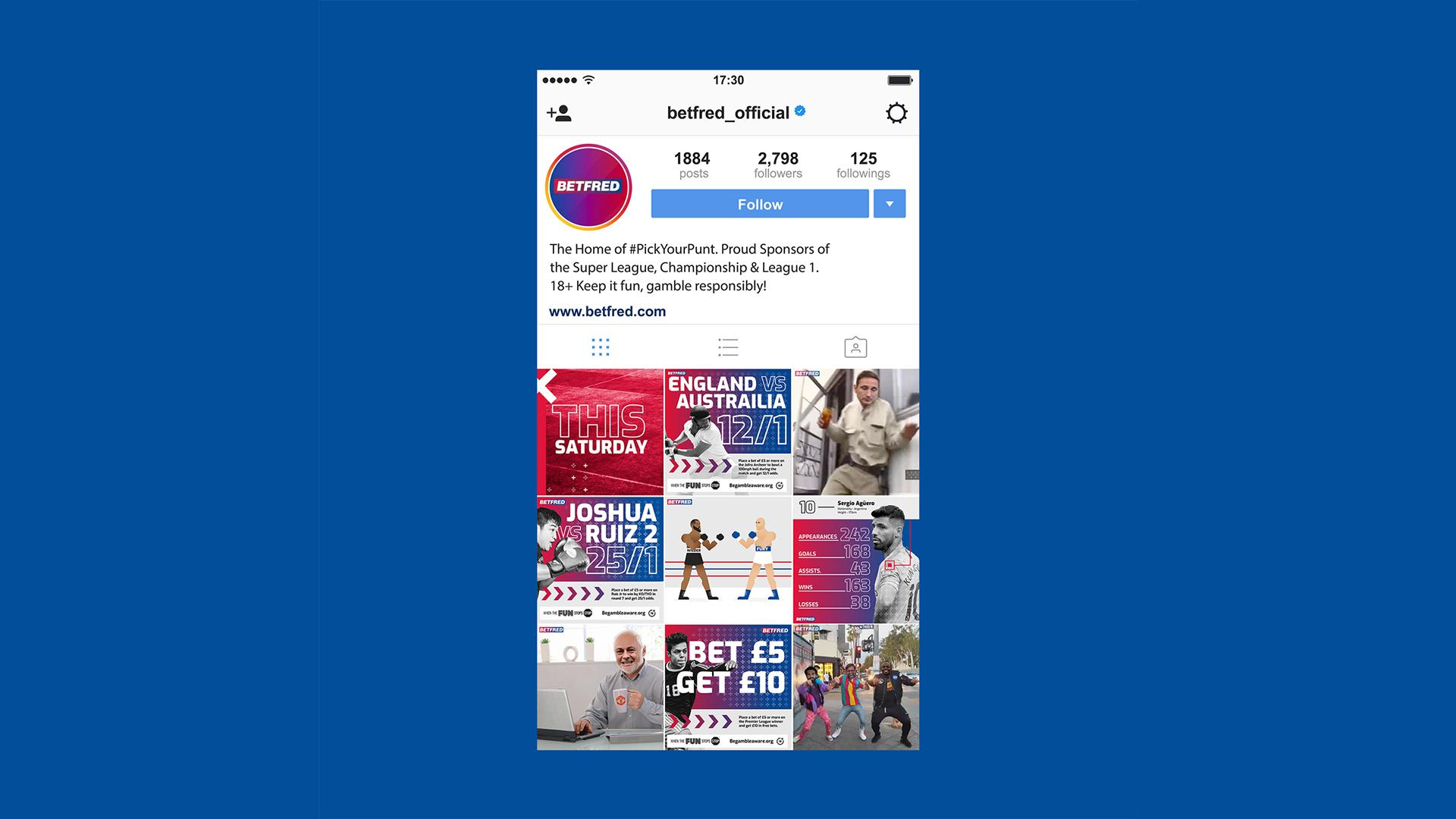 betfred social media content marketing strategy