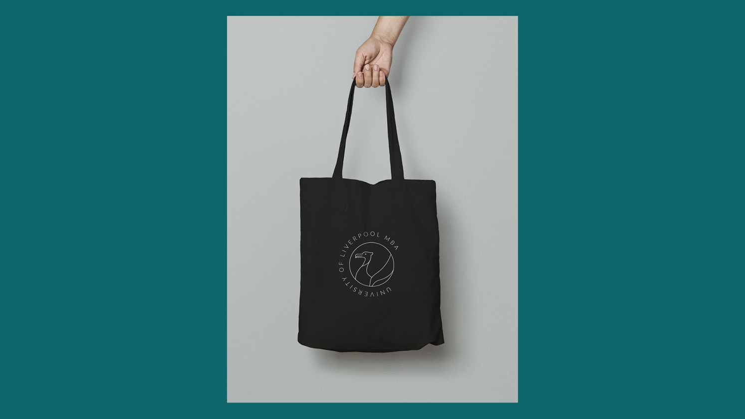 branded materials such as a tote bag